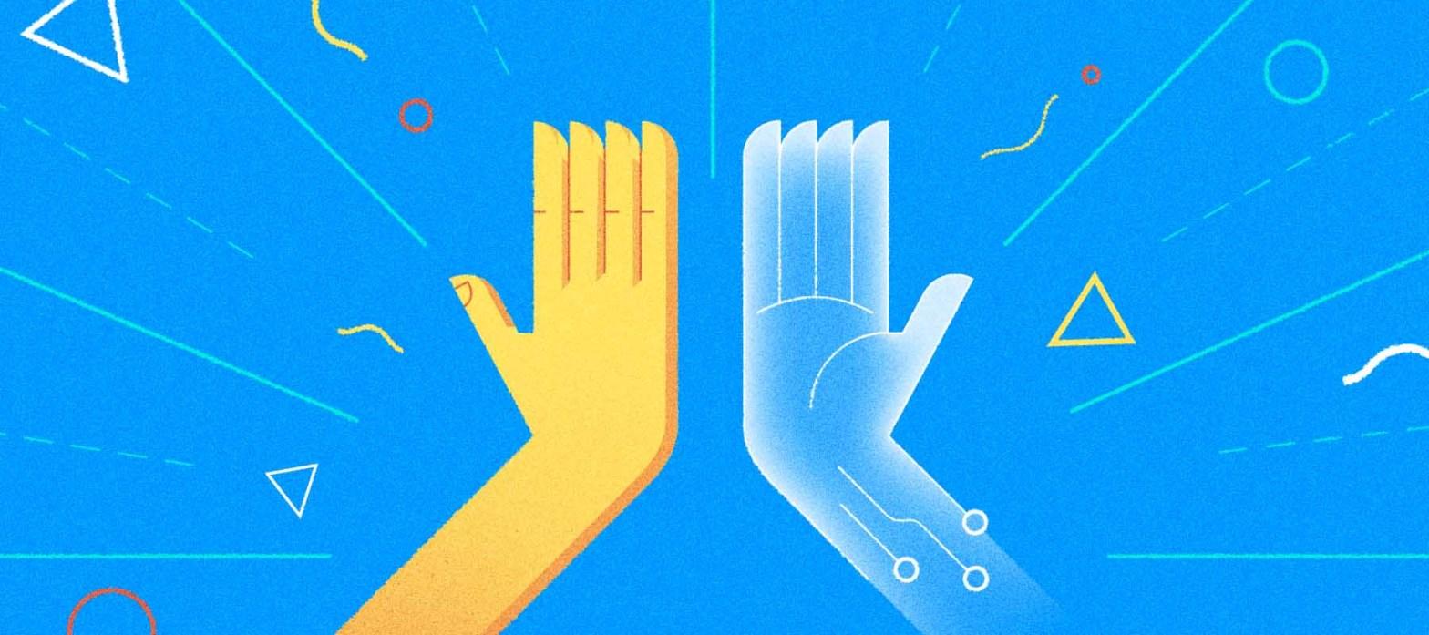 chatbot e call center uniti verso un nuovo modello del lavoro, una rappresentazione iconica