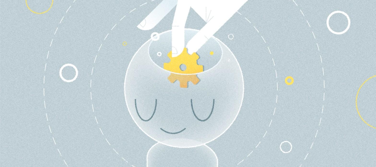 illustrazione di un chatbot pensante