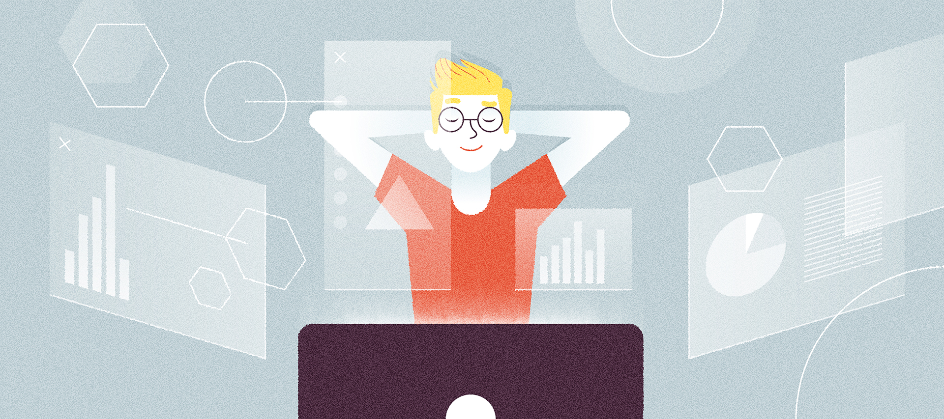 utente soddisfatto dopo aver dialogato con un'azienda tramite un chatbot