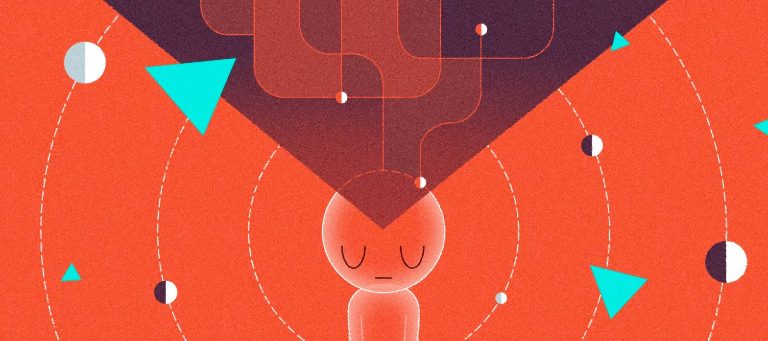 illustrazione raffigurante un chatbot dotato di pensiero e intelligenza