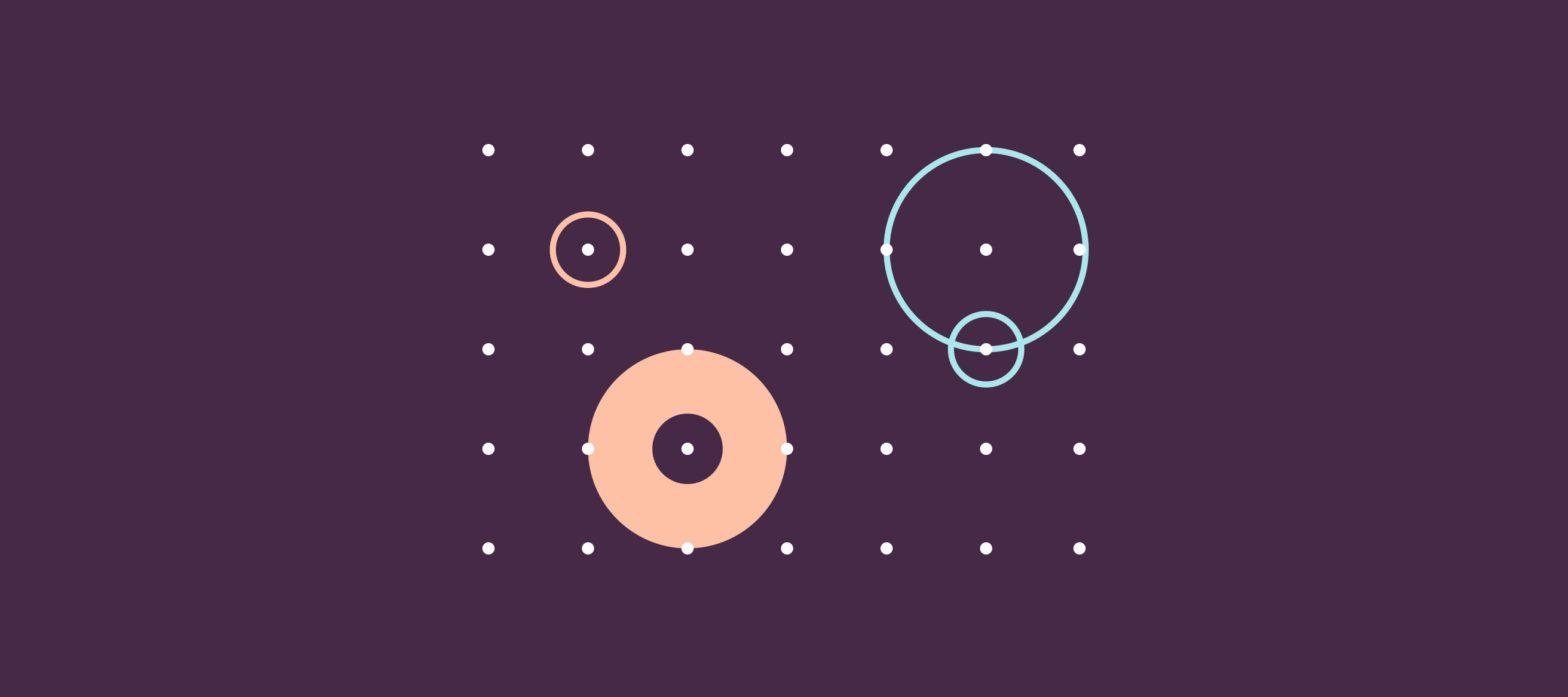 immagine iconica chatbot e lead generation, cerchi su sfondo a pallini