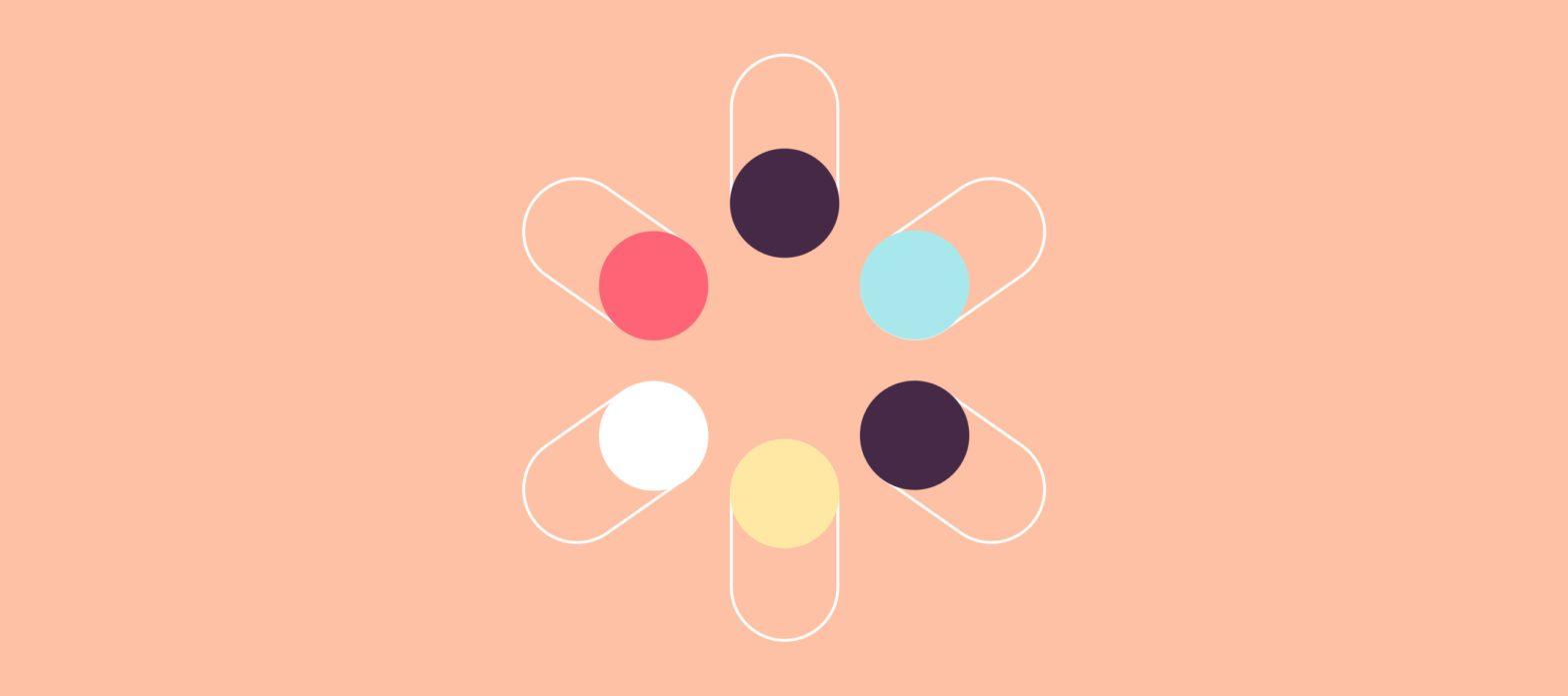 immagine iconica del chatbot psicologo, tanti cerchi intorno a un centro comune