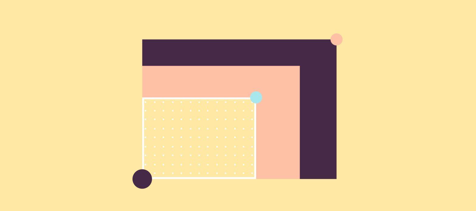 immagine iconica dell'uso dell'ai durante l'emergenza covid, rettangoli e cerchi colorati