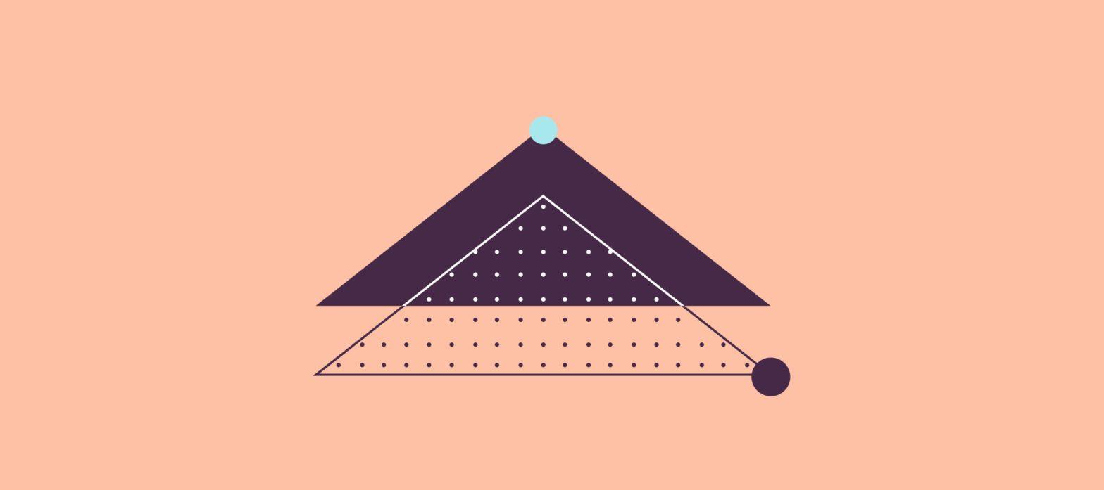 immagine iconica dei Q&A chatbot, triangoli e cerchi colorati
