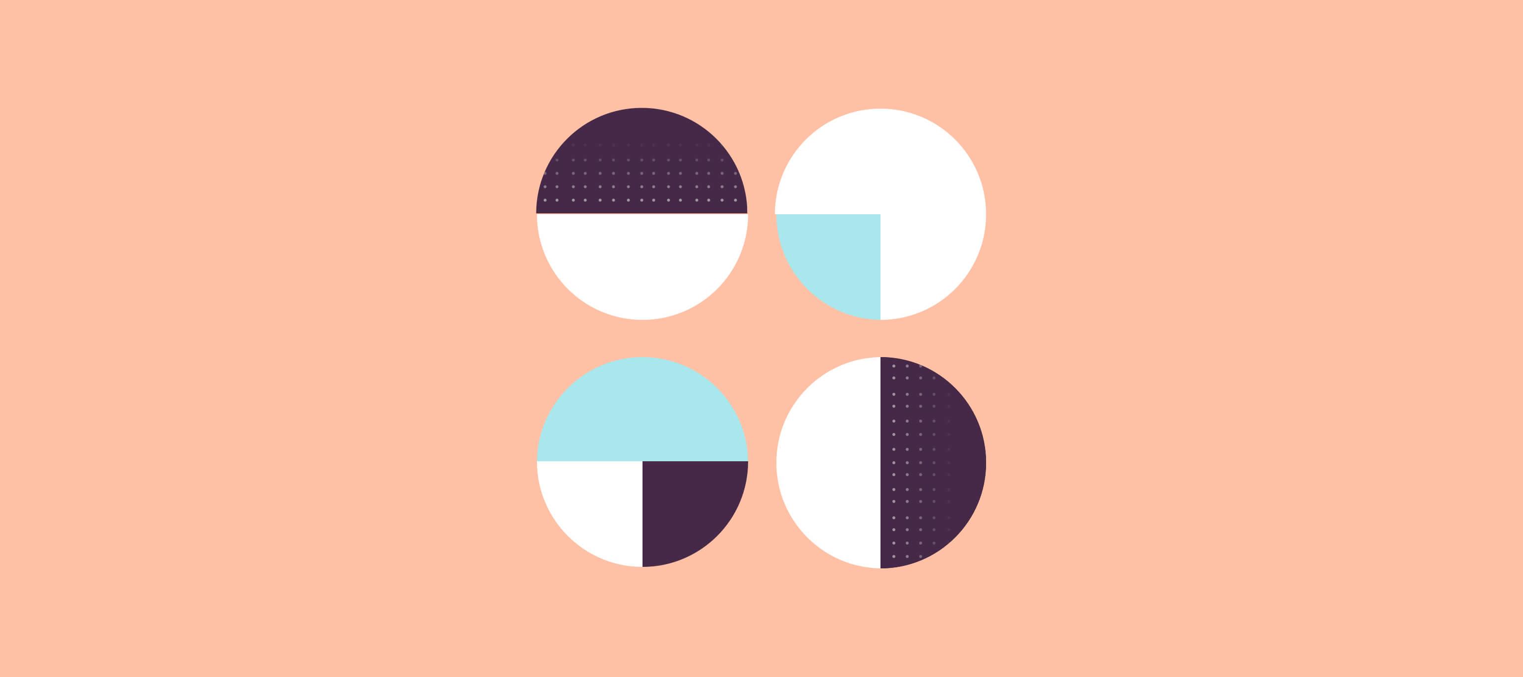quattro figure circolari simbolo dell'integrazione tra tecnologie vocali e servizio clienti